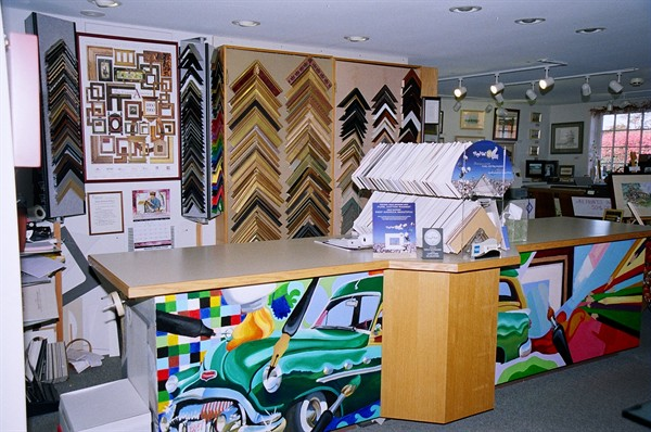 This is where we create custom picture frame designs for our customers